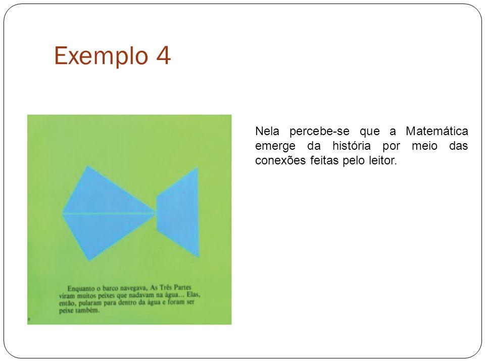 Exemplo 4 Nela percebe-se que a Matemática emerge da história por meio das conexões feitas pelo leitor.