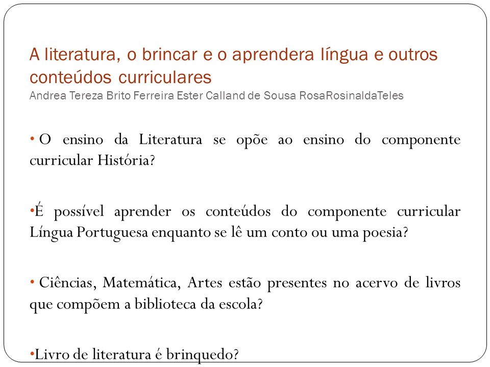 Lista de Obras dos Acervos Complementares do PNLD 2010 e 2013 que favorecem a reflexão sobre conceitos matemáticos.