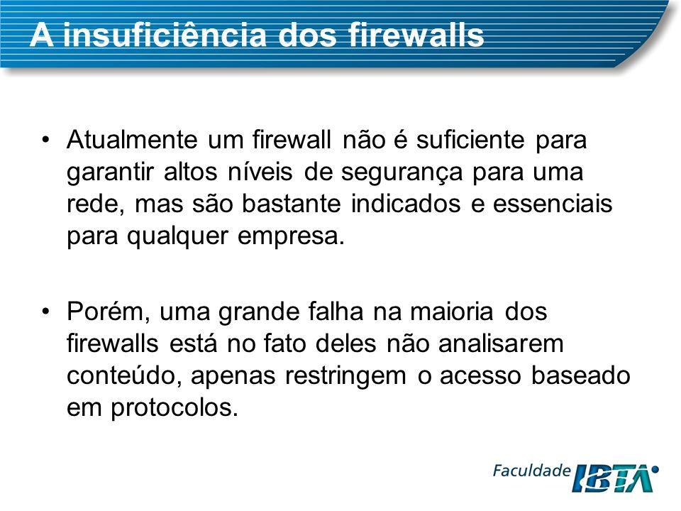 Atualmente um firewall não é suficiente para garantir altos níveis de segurança para uma rede, mas são bastante indicados e essenciais para qualquer empresa.