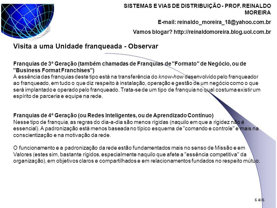 SISTEMAS E VIAS DE DISTRIBUIÇÃO - PROF.