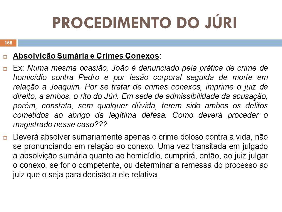 PROCEDIMENTO DO JÚRI Da Desclassificação (art.419) Essa decisão desclassifica o delito para outro que não seja doloso contra a vida.