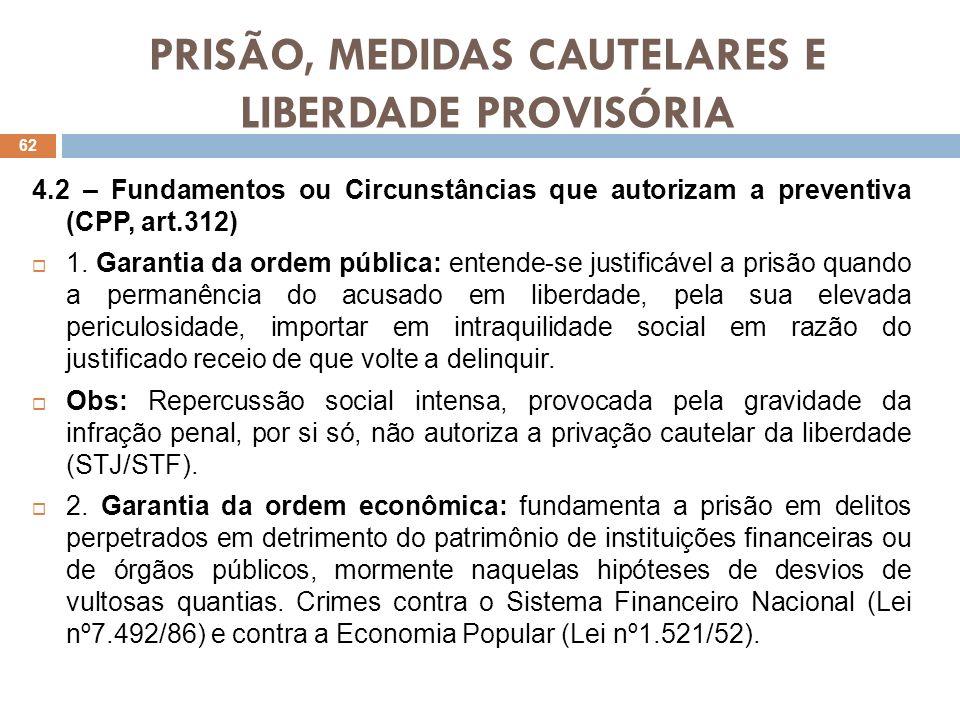 PRISÃO, MEDIDAS CAUTELARES E LIBERDADE PROVISÓRIA 3.