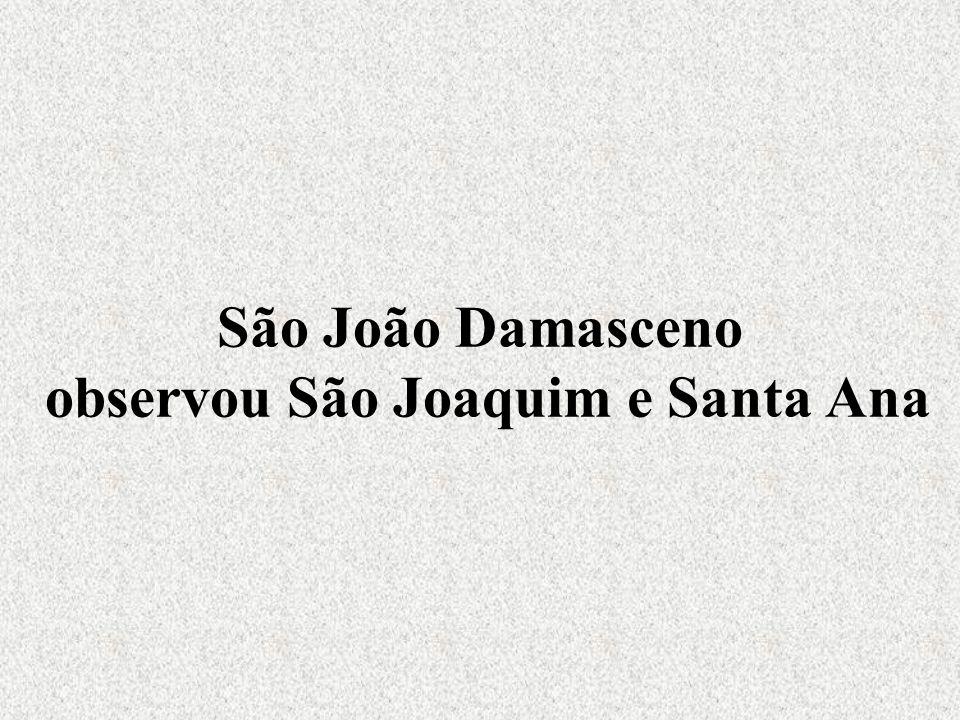São João Damasceno observou São Joaquim e Santa Ana