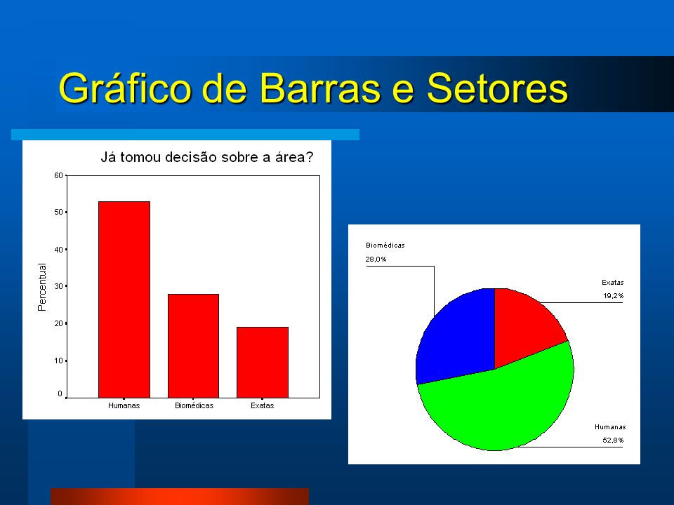 Gráfico de Barras e Setores