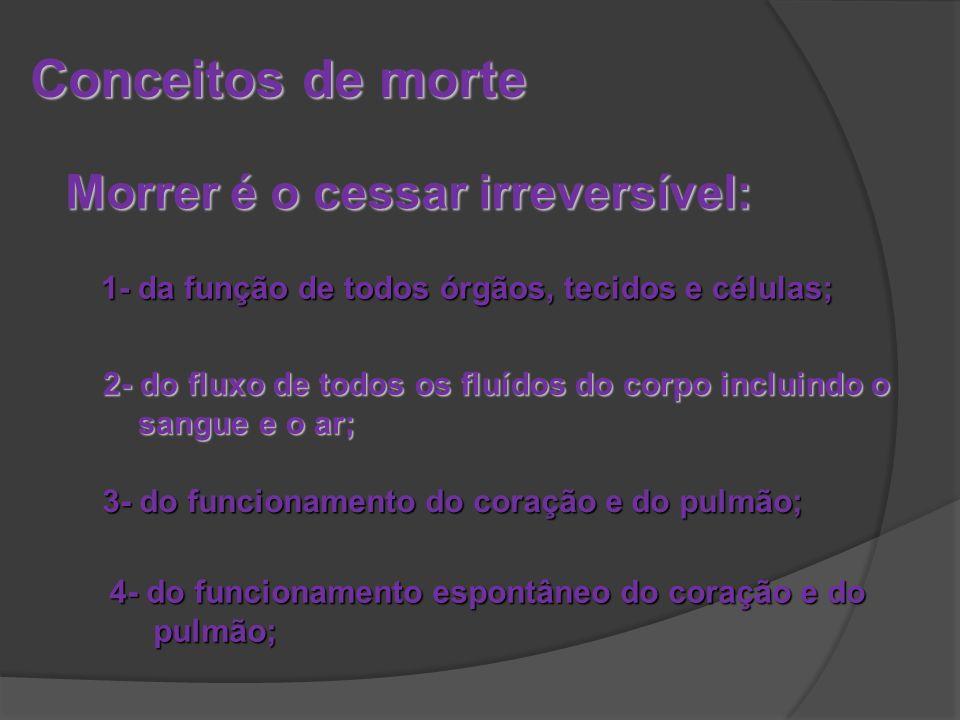 Parecer do CONSELHO FEDERAL DE MEDICINA sobre Morte Encefálica Processo-consulta CFM nº7.311/97 INTERESSADO: Hospital São Lucas da PUCRS ASSUNTO: Morte encefálica – aspectos legais desligar os aparelhos RELATOR: Nei Moreira da Silva EMENDA: Os critérios para verificação de morte encefálica não se aplicam apenas às situações de transplantes de órgãos.