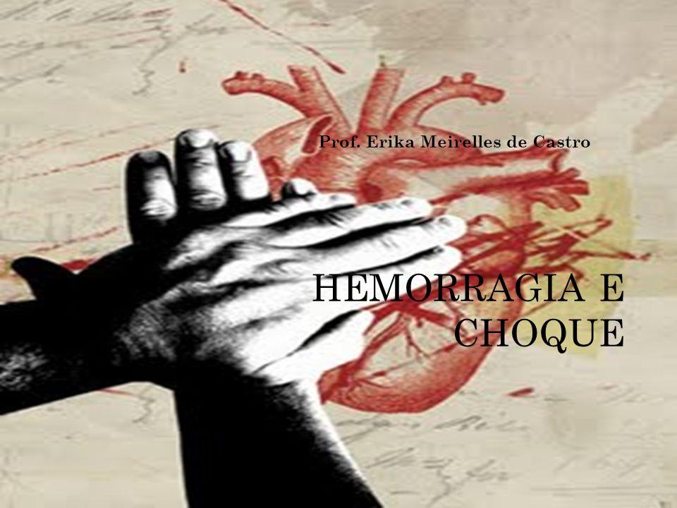 HEMORRAGIA É o extravasamento de sangue dos vasos sanguíneos ou das cavidades do coração, podendo provocar estado de choque e óbito.
