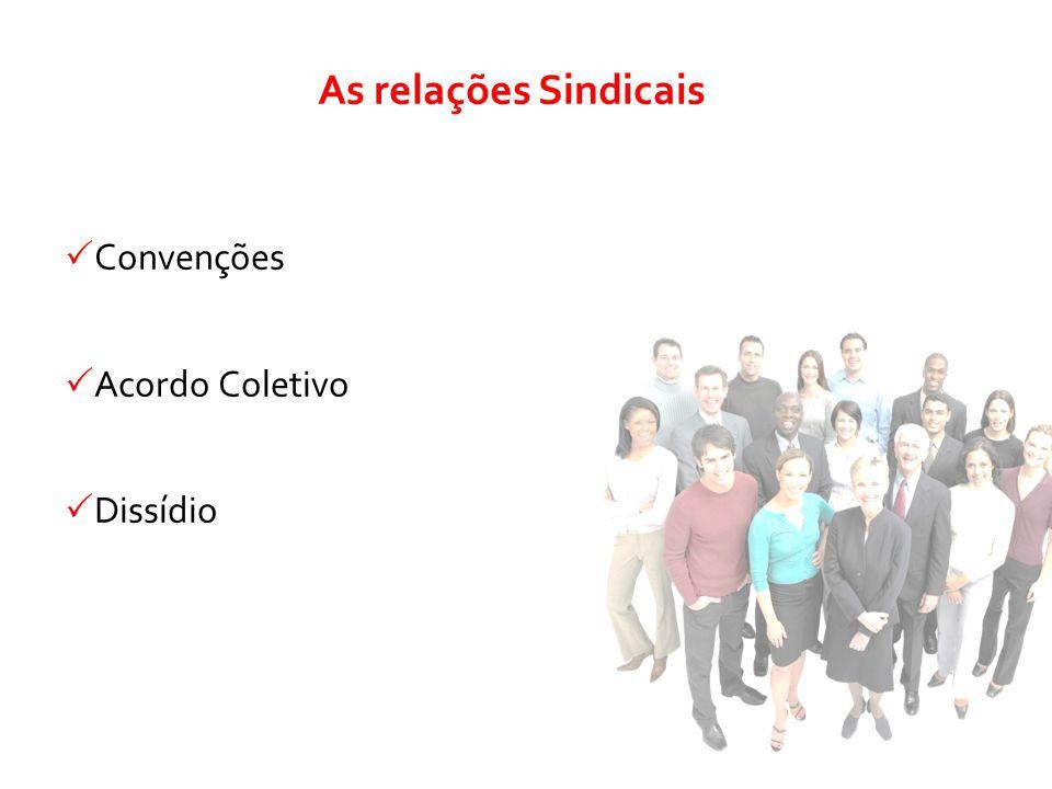 Convenções Acordo Coletivo Dissídio As relações Sindicais