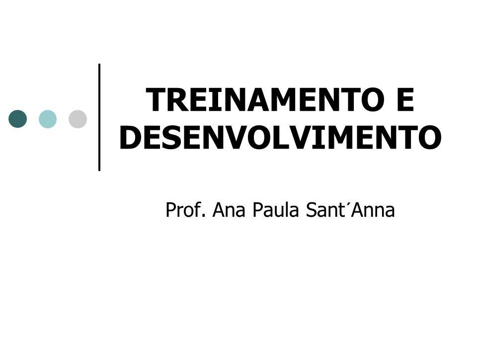 TREINAMENTO E DESENVOLVIMENTO Prof. Ana Paula Sant´Anna