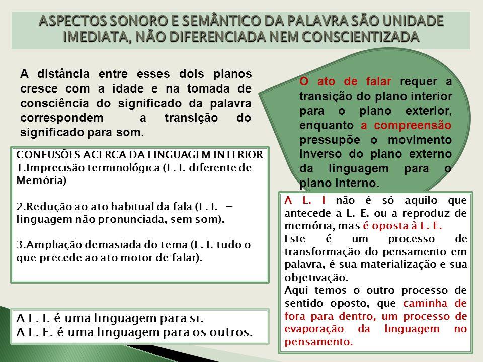 A LINGUAGEM EGOCÊNTRICA É A CHAVE PARA A INVESTIGAÇÃO DA L.