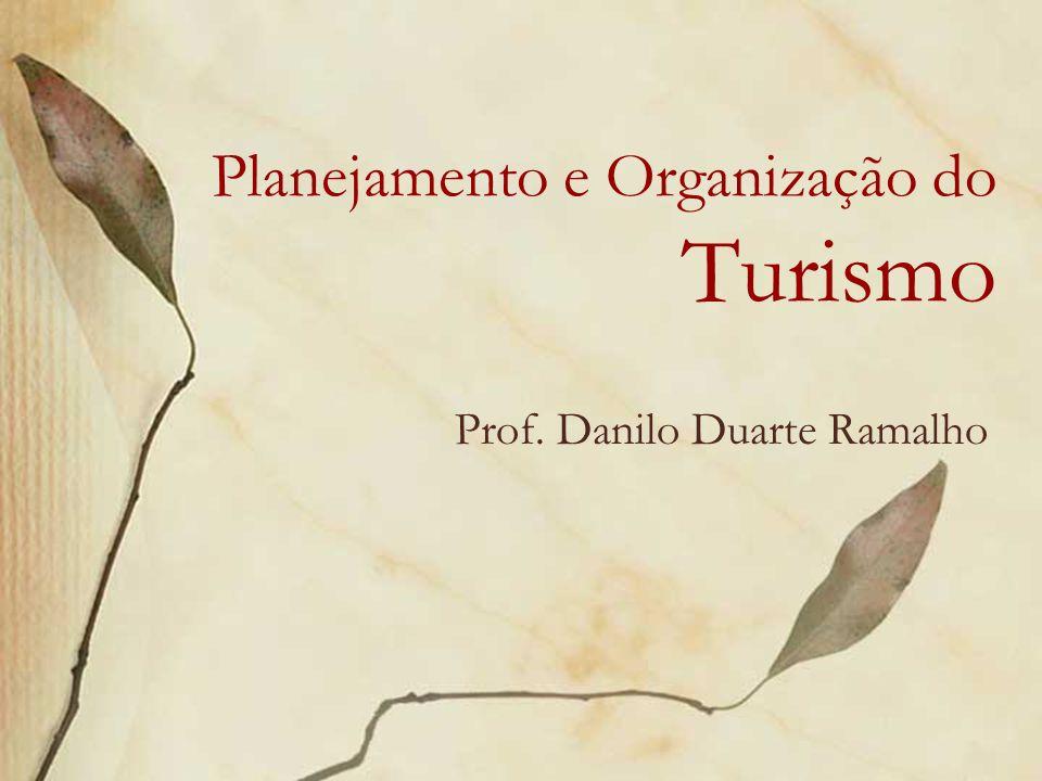 Planejamento e Organização do Turismo Prof. Danilo Duarte Ramalho