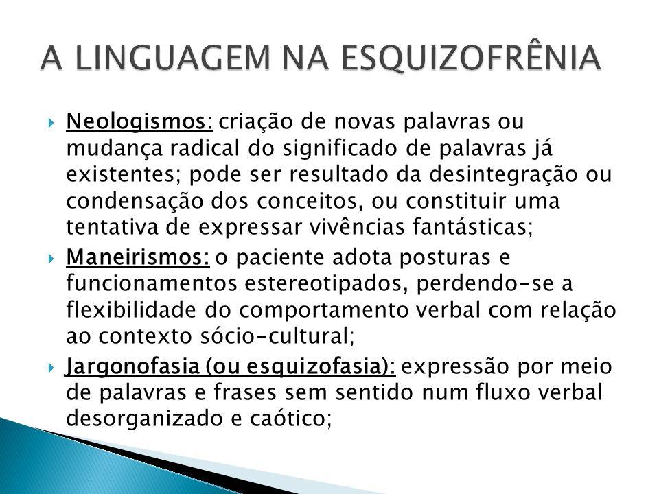 Neologismos: criação de novas palavras ou mudança radical do significado de palavras já existentes; pode ser resultado da desintegração ou condensação