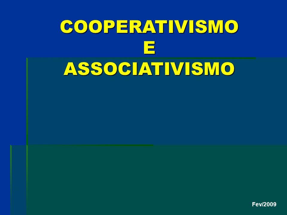 Fev/2009 COOPERATIVISMO E ASSOCIATIVISMO