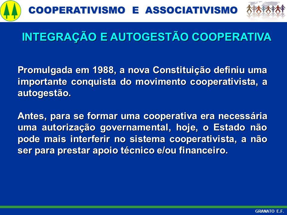 COOPERATIVISMO E ASSOCIATIVISMO COOPERATIVISMO E ASSOCIATIVISMO GRANATO E.F. Promulgada em 1988, a nova Constituição definiu uma importante conquista