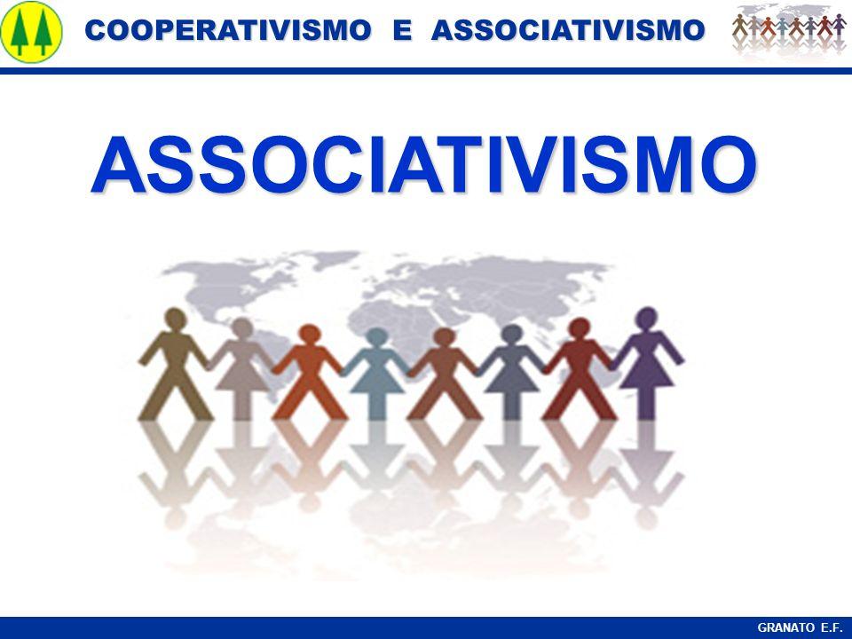 COOPERATIVISMO E ASSOCIATIVISMO COOPERATIVISMO E ASSOCIATIVISMO GRANATO E.F. ASSOCIATIVISMO