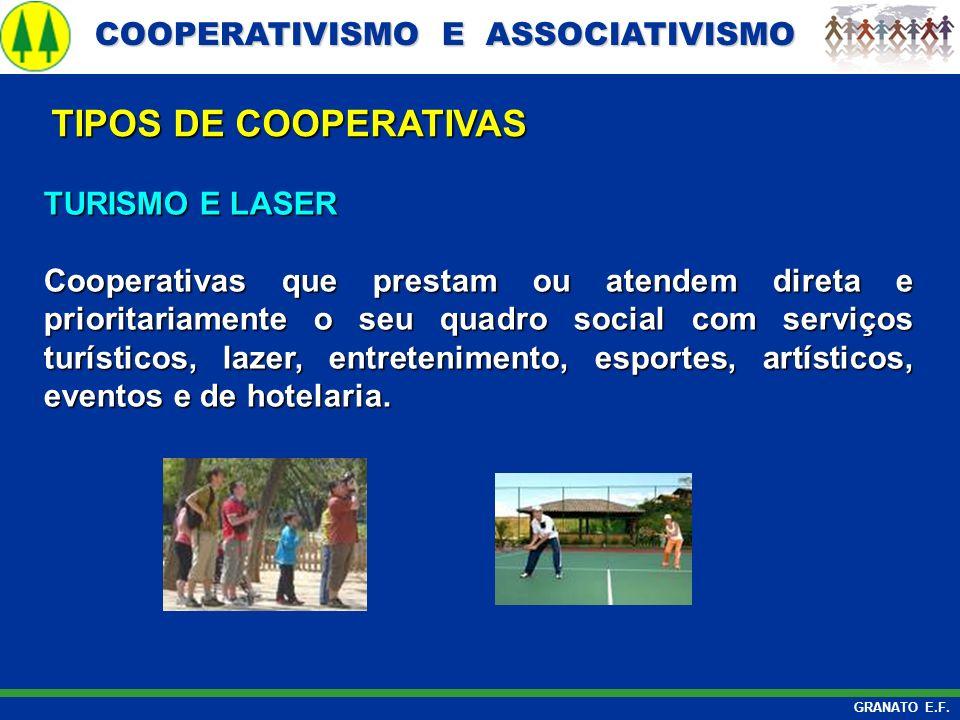 COOPERATIVISMO E ASSOCIATIVISMO COOPERATIVISMO E ASSOCIATIVISMO GRANATO E.F. TURISMO E LASER Cooperativas que prestam ou atendem direta e prioritariam