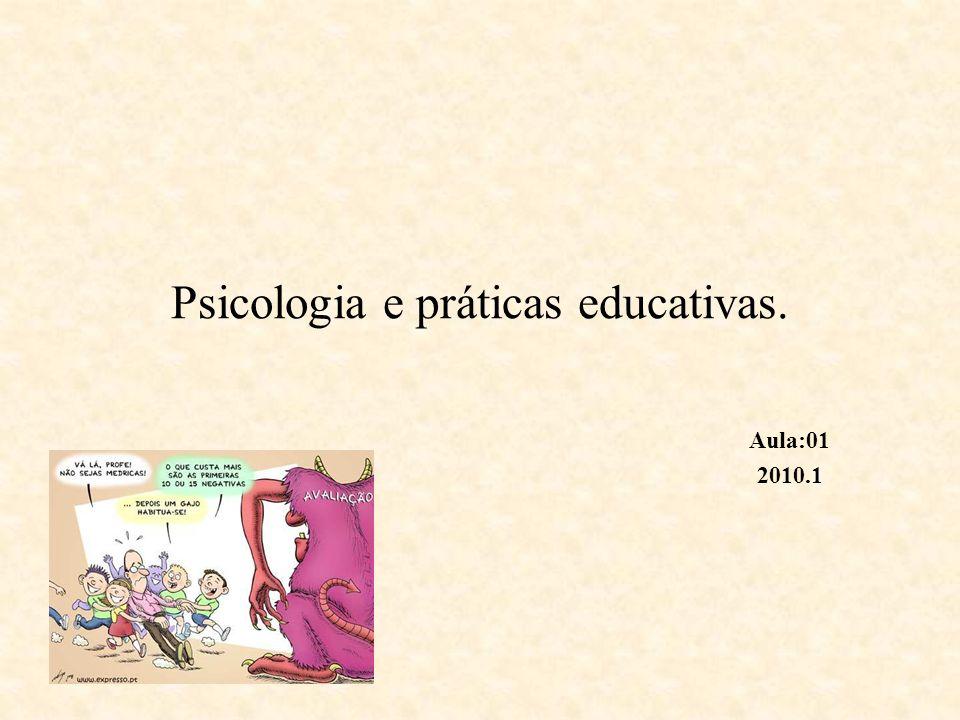 Psicologia da Educação Engloba a psicologia do desenvolvimento, da aprendizagem, social, da personalidade.