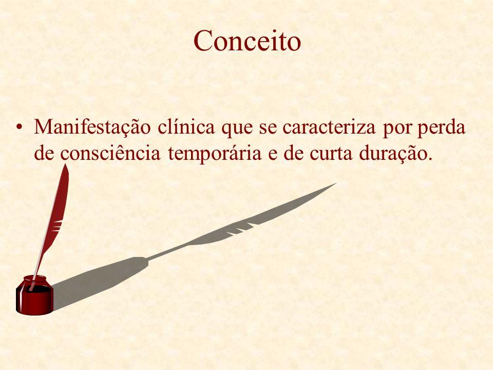 Desmaios Causas: Jejum prolongado (hipoglicemia); Permanência em ambiente abafado com muitas pessoas; Condições psicológicas (emoção forte); Fadiga; Condições patológicas (arritmias, infarto do miocárdio, etc.) Grande perda de sangue.