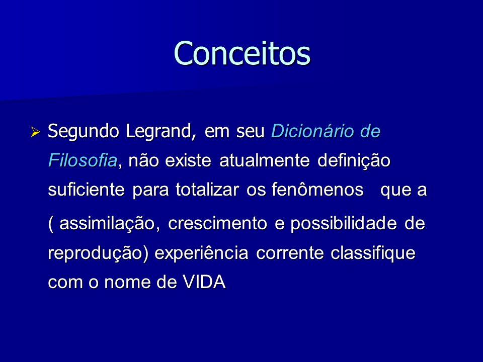 Conceitos Segundo Legrand, em seu Dicionário de Filosofia, não existe atualmente definição suficiente para totalizar os fenômenos que a Segundo Legran