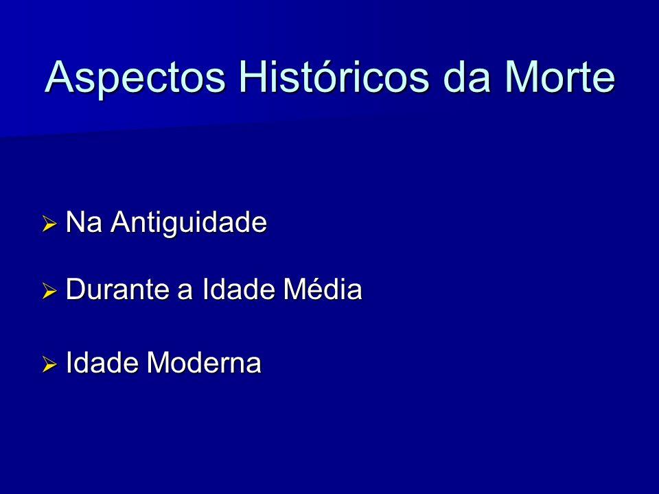 Aspectos Históricos da Morte Na Antiguidade Na Antiguidade Durante a Idade Média Durante a Idade Média Idade Moderna Idade Moderna