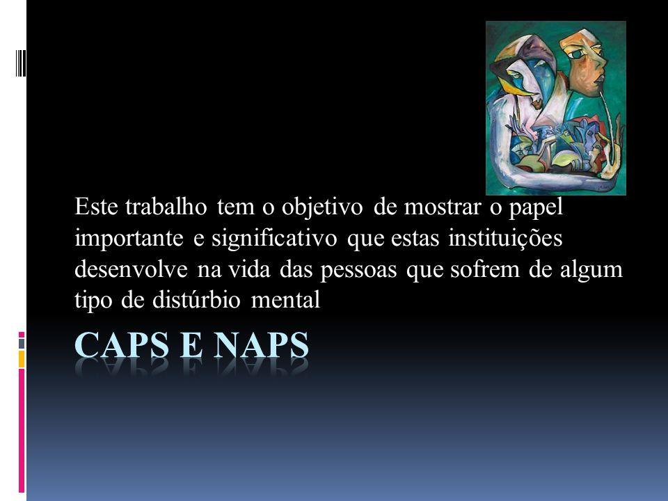 Conceito CAPS – Centro de Atenção Psicossocial.