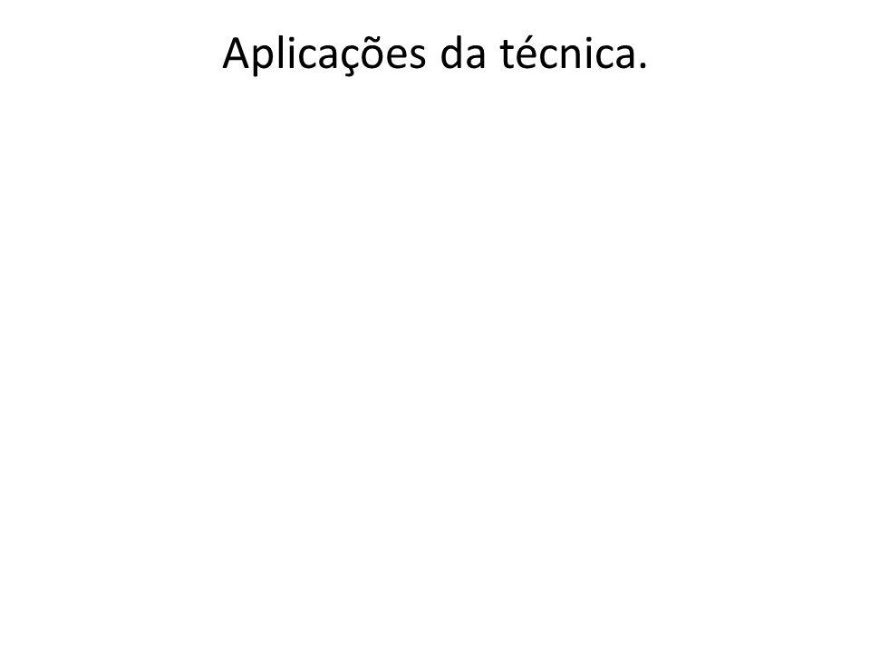 Aplicações da técnica.
