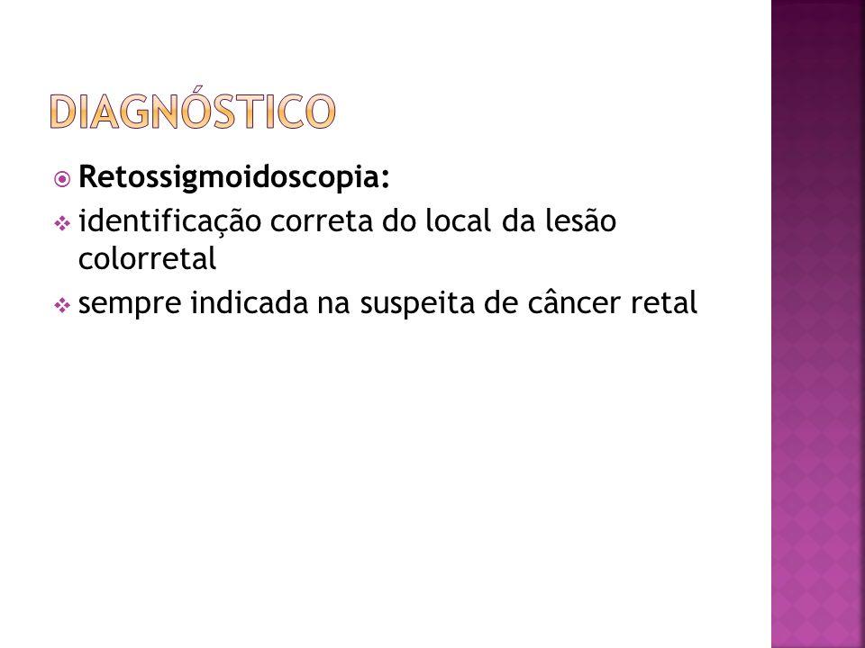 Retossigmoidoscopia: identificação correta do local da lesão colorretal sempre indicada na suspeita de câncer retal