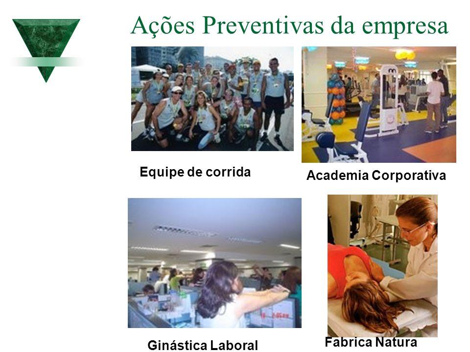 Ações Preventivas da empresa Academia Corporativa Ginástica Laboral Equipe de corrida Fabrica Natura