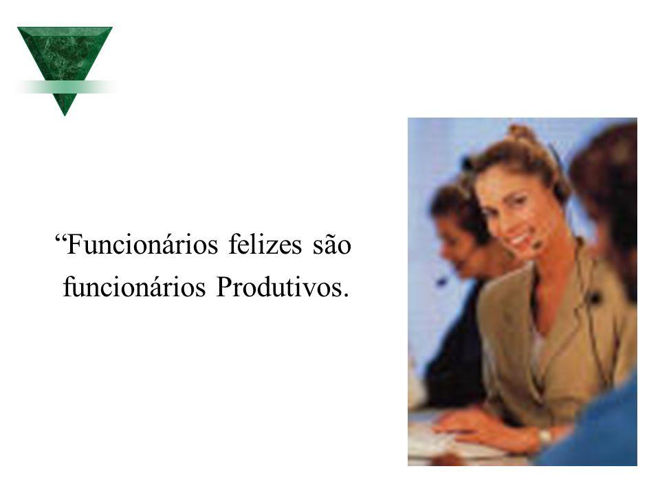 Funcionários felizes são funcionários Produtivos.