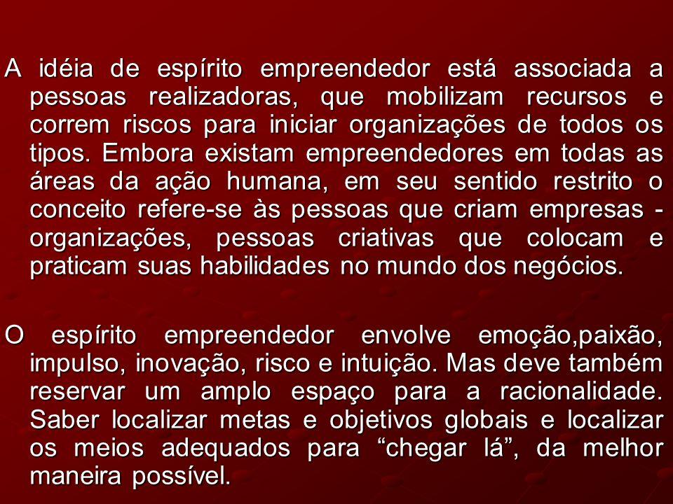 Empreendedorismo e desenvolvimento econômico A transformação dos atores sociais em veículos de criação e difusão do espírito empreendedor, poderá canalizar comportamentos para o objetivo do desenvolvimento.