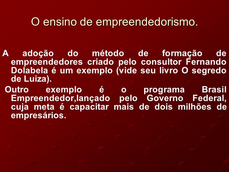 DEFINIÇÃO E HISTÓRICO DO EMPREENDEDORISMO DEFINIÇÃO E HISTÓRICO DO EMPREENDEDORISMO A pessoa que assume o risco de começar uma empresa é um empreendedor.