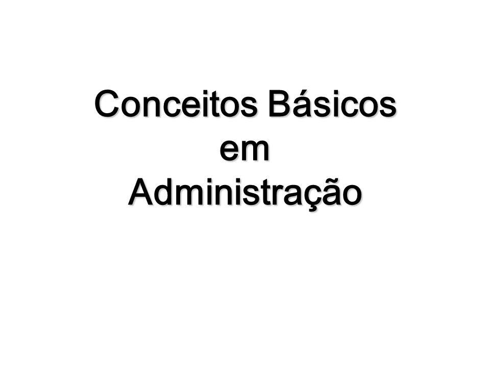 FUNDAMENTOS DA ADMINISTRAÇÃO Objetivos Decisões Recursos Pessoas Administradores e Gerentes Importância Social da Administração Impacto da Qualidade da Administração