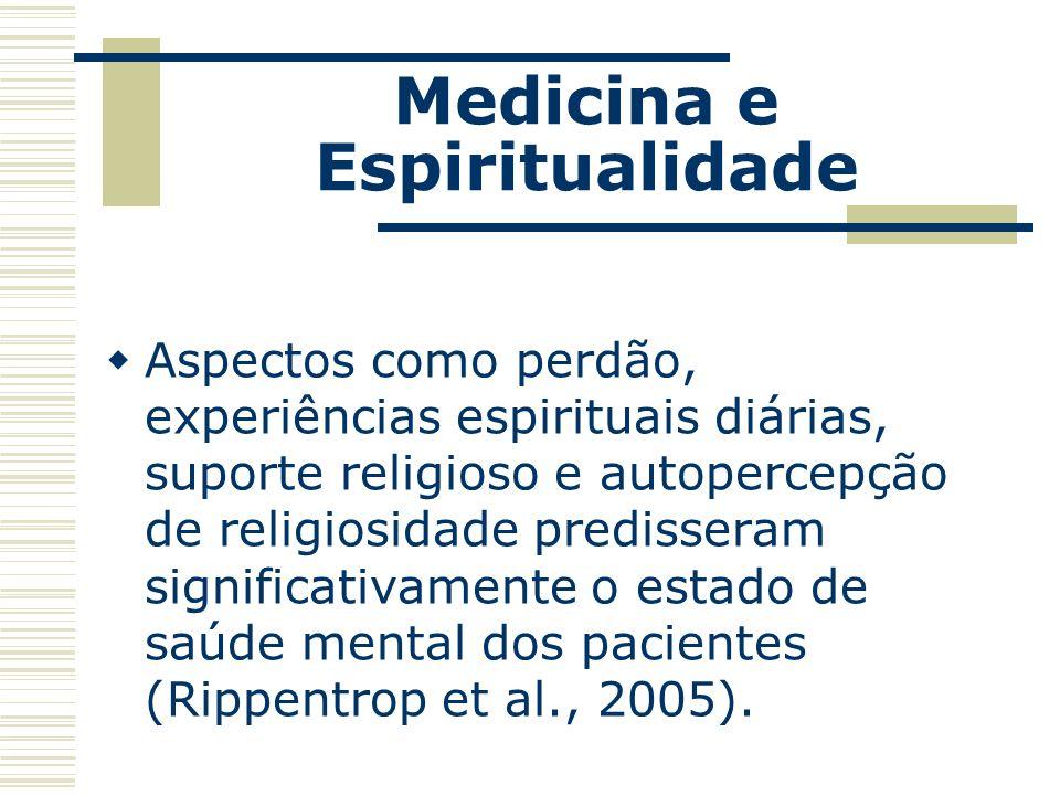 Medicina e Espiritualidade Os espíritas têm sido os únicos a enfatizar, no Ocidente, a necessidade do casamento entre Saúde e Espiritualidade.