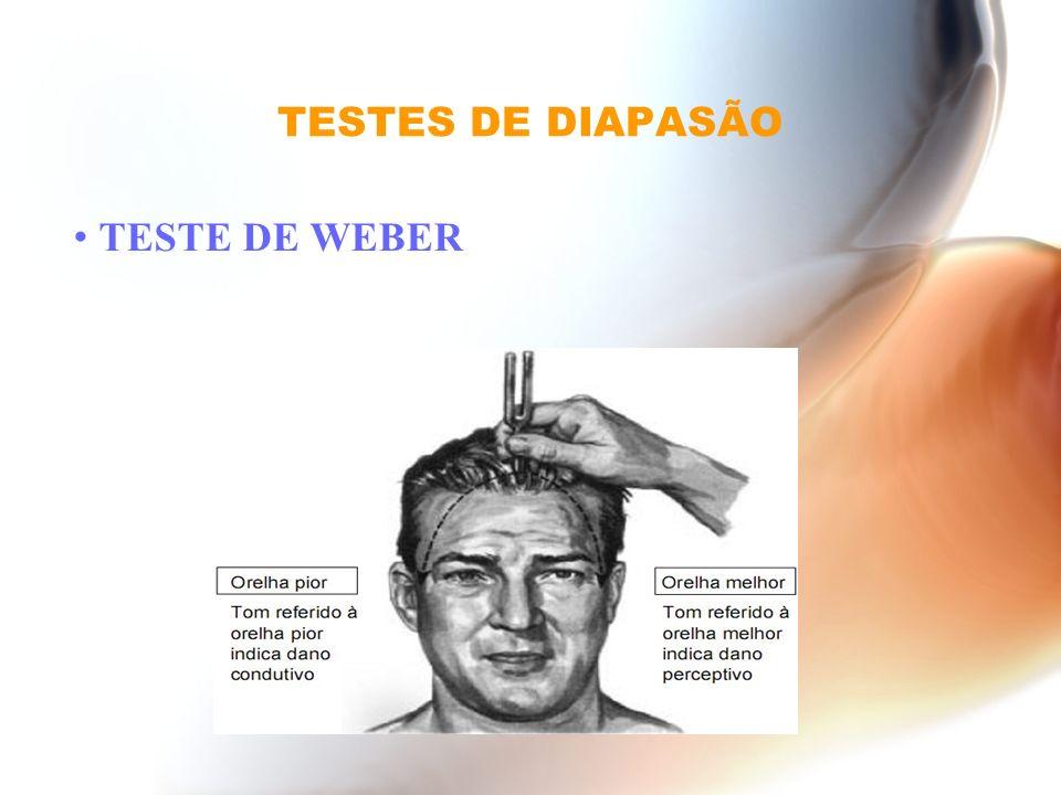 TESTES DE DIAPASÃO TESTE DE WEBER