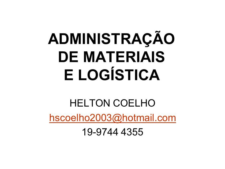 ADMINISTRAÇÃO DE MATERIAIS E LOGÍSTICA HELTON COELHO hscoelho2003@hotmail.com 19-9744 4355