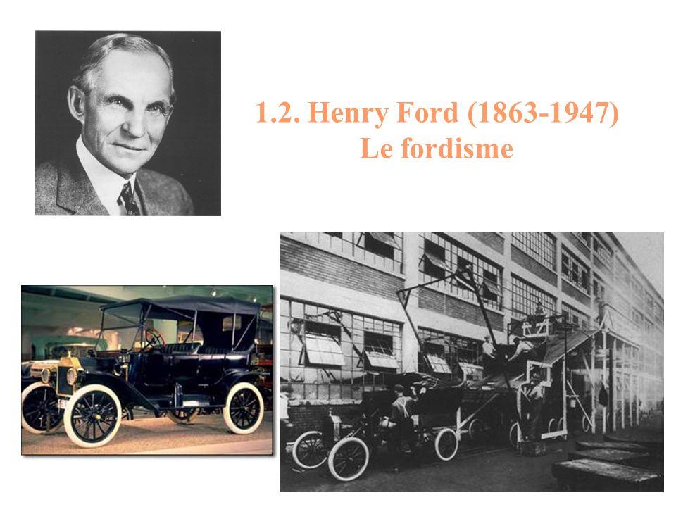 1.2. Henry Ford (1863-1947) Le fordisme