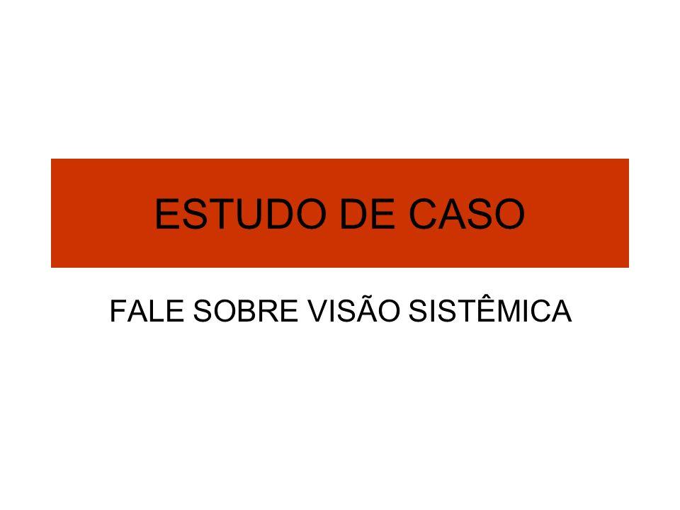 ESTUDO DE CASO FALE SOBRE VISÃO SISTÊMICA