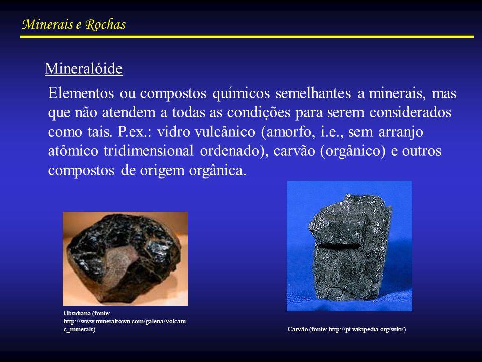 Minerais e Rochas Propriedades dos Minerais/químicas Polimorfismo...