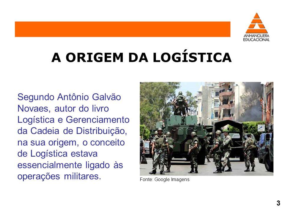 A ORIGEM DA LOGÍSTICA Segundo Antônio Galvão Novaes, autor do livro Logística e Gerenciamento da Cadeia de Distribuição, na sua origem, o conceito de