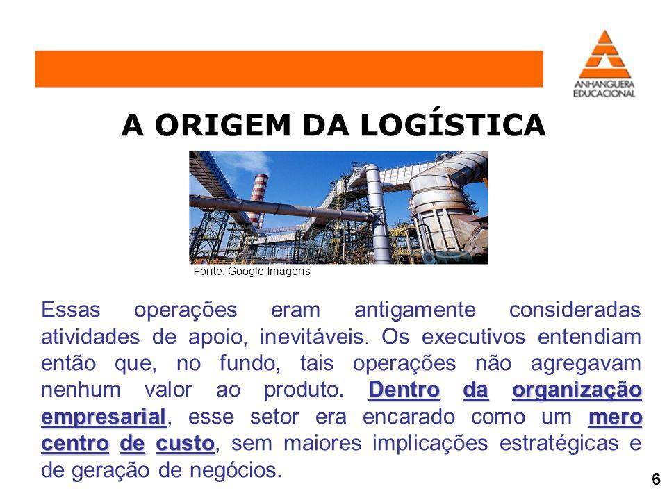 Gerenciamento Logístico Gerenciamento da Cadeia de Suprimentos O Gerenciamento Logístico preocupa-se fundamentalmente com a otimização dos fluxos dentro da Organização, enquanto o Gerenciamento da Cadeia de Suprimentos reconhece que a integração interna em si mesma não é suficiente.