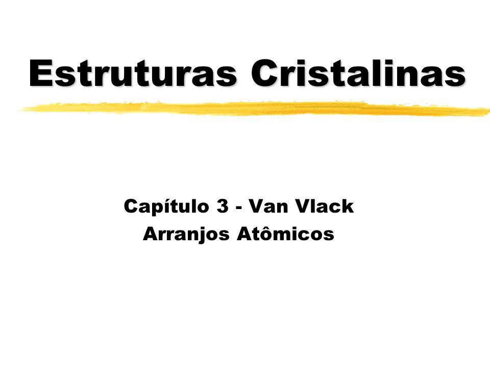 Estruturas Cristalinas Capítulo 3 - Van Vlack Arranjos Atômicos