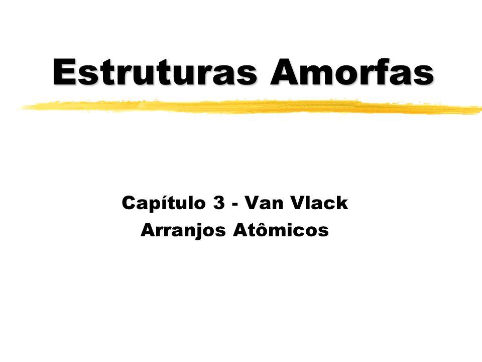 Estruturas Amorfas Capítulo 3 - Van Vlack Arranjos Atômicos