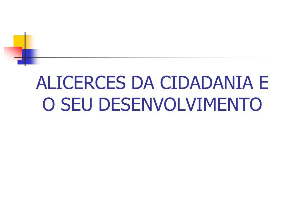ALICERCES DA CIDADANIA E O SEU DESENVOLVIMENTO