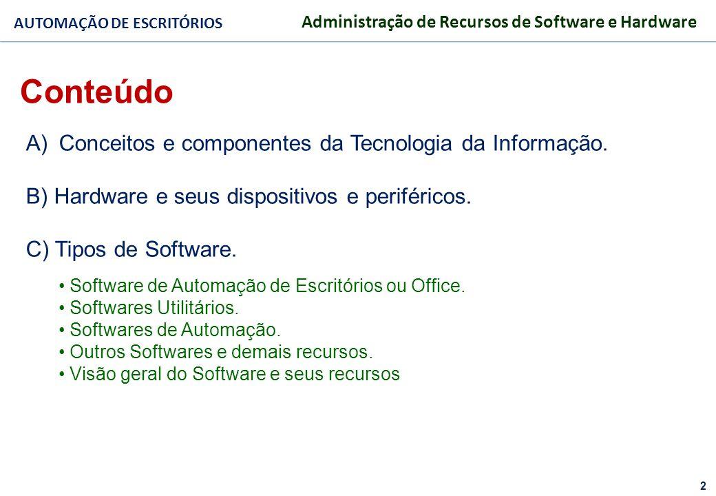 3 FACULDADE FABRAI ANHANGUERA – 2009 AUTOMAÇÃO DE ESCRITÓRIOS Administração de Recursos de Software e Hardware GESTÃO DA TECNOLOGIA DA INFORMAÇÃO RECURSOS DISPONÍVEIS FORTALECIMENTO EMPRESARIAL PLANEJAMENTO ESTRATÉGICO SISTEMAS DE INFORMAÇÃO