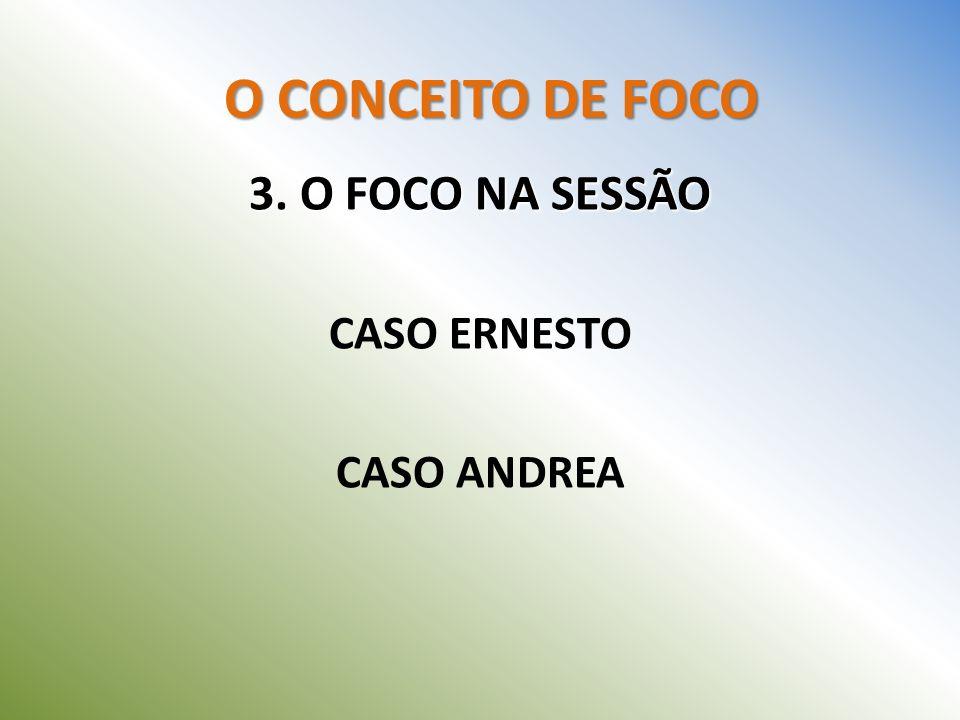 O CONCEITO DE FOCO 3. O FOCO NA SESSÃO CASO ERNESTO CASO ANDREA