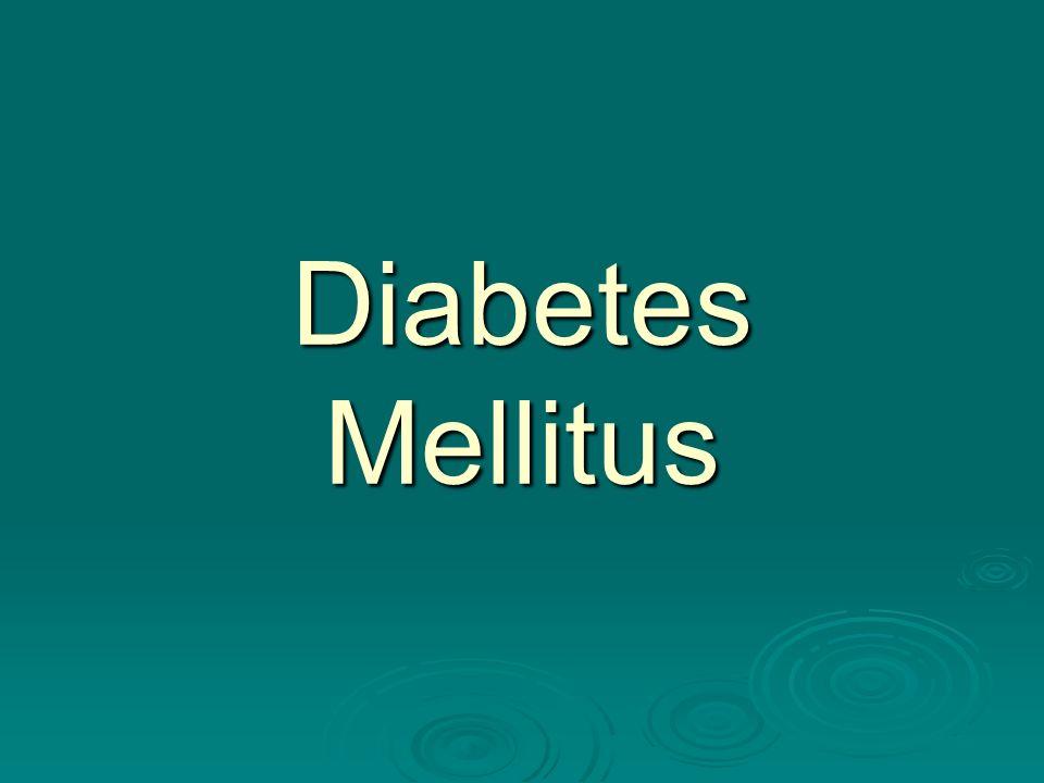 Diabetes de acordo com a OMS, em 2006 havia cerca de 171 milhões de diabéticos no mundo.