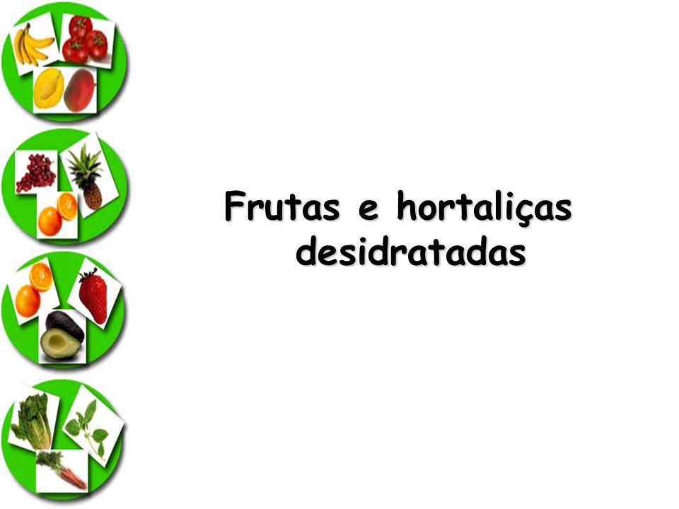 Frutas e hortaliças desidratadas
