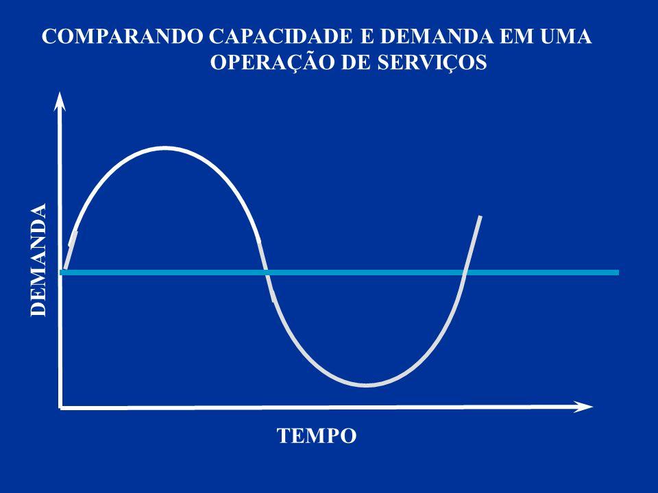 DEMANDA TEMPO COMPARANDO CAPACIDADE E DEMANDA EM UMA OPERAÇÃO DE SERVIÇOS