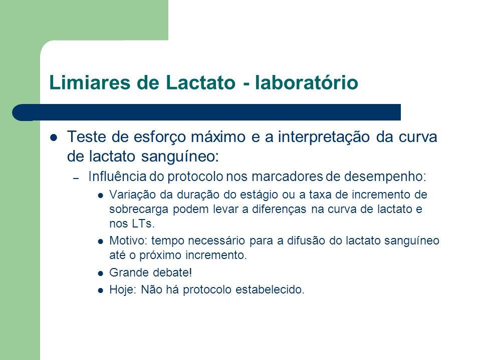 Limiares de Lactato - laboratório Teste de esforço máximo e a interpretação da curva de lactato sanguíneo: – Influência do protocolo nos marcadores de