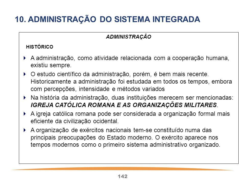 142 ADMINISTRAÇÃO HISTÓRICO A administração, como atividade relacionada com a cooperação humana, existiu sempre.