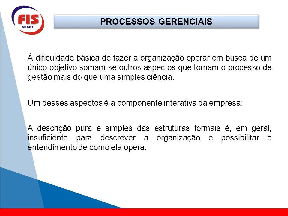 PROCESSOS GERENCIAIS Podemos conceituar esse sistema como um conjunto de regras, de procedimentos e meios que permitem aplicar métodos a um organismo para realização de determinados objetivos.